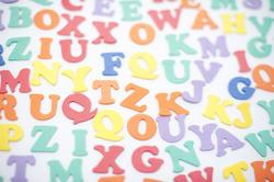 6951   Colourful alphabet background
