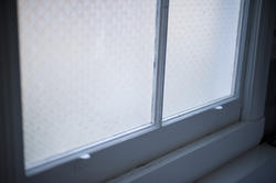 6921   Detail of a bathroom window
