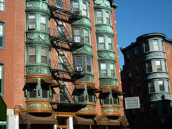 6637   Decorative bay windows in Boston