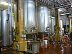 6694   Large metal brewery vats