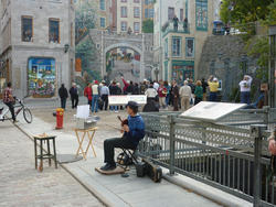 6707   Busker in Quebec City