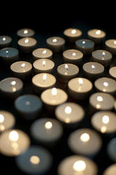 6796   Burning festive religious candles
