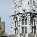 7585   Detail of the Gothic Tower in Cardiff Castle