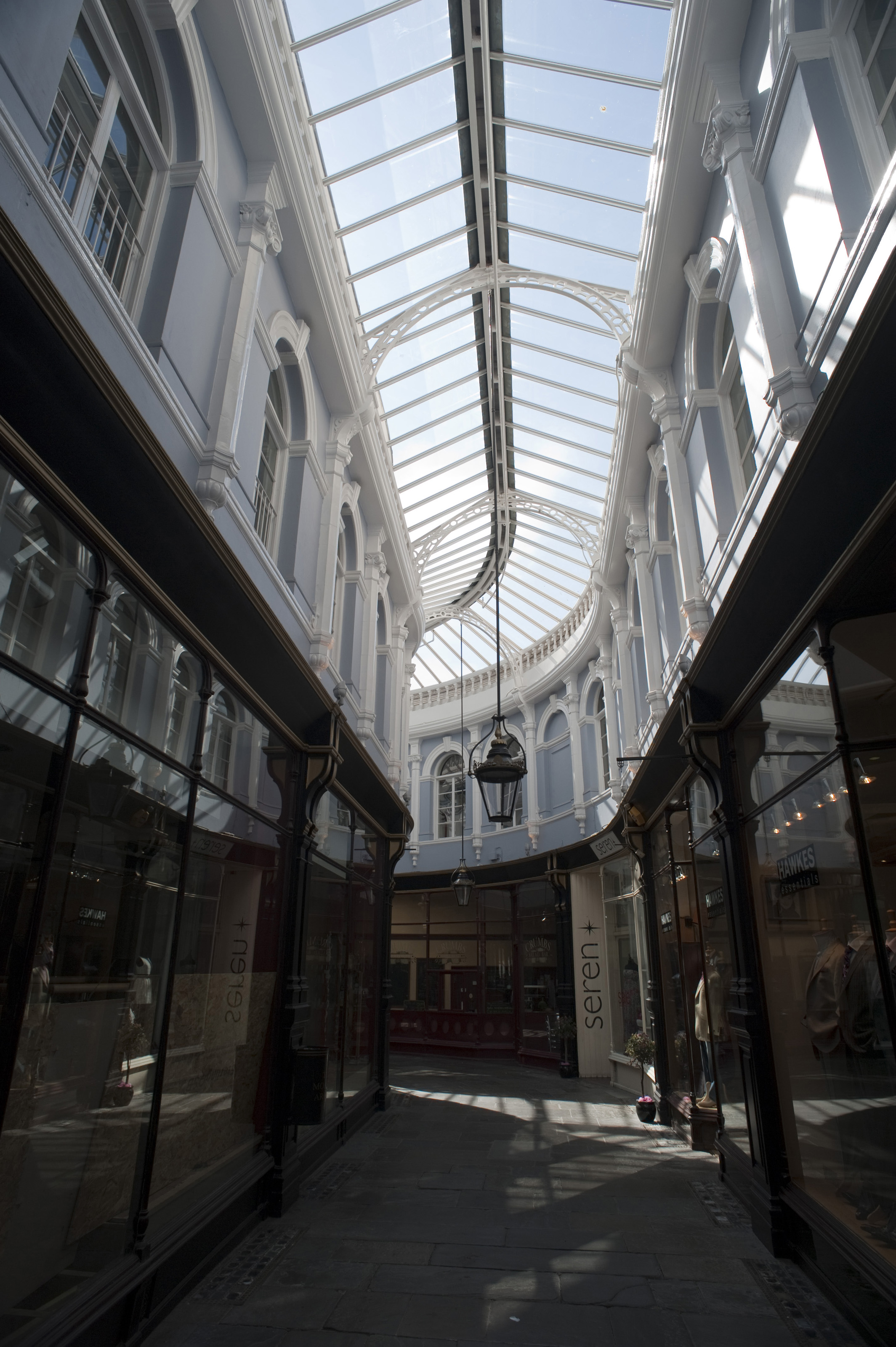 free stock photo 7601 glass roof and shopfronts of the morgan