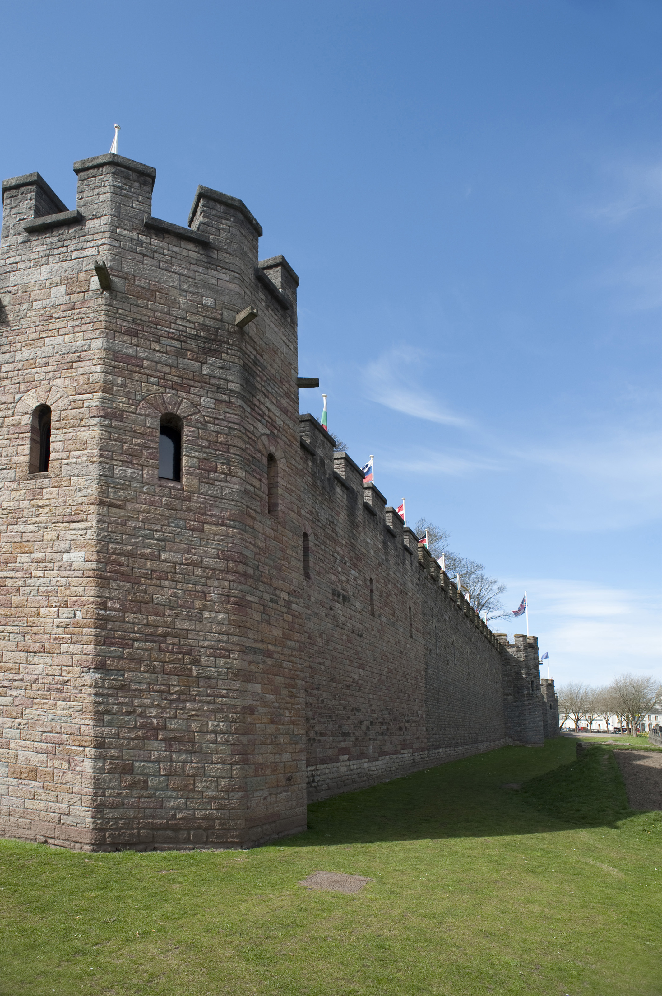 Free Stock Photo 7563 Cardiff Castle Walls Freeimageslive