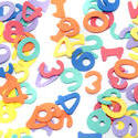 6969   Colourful numbers scattered on white