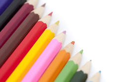 6944   Artistic palette of coloured pencils