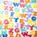 6977   Background of colourful consonants
