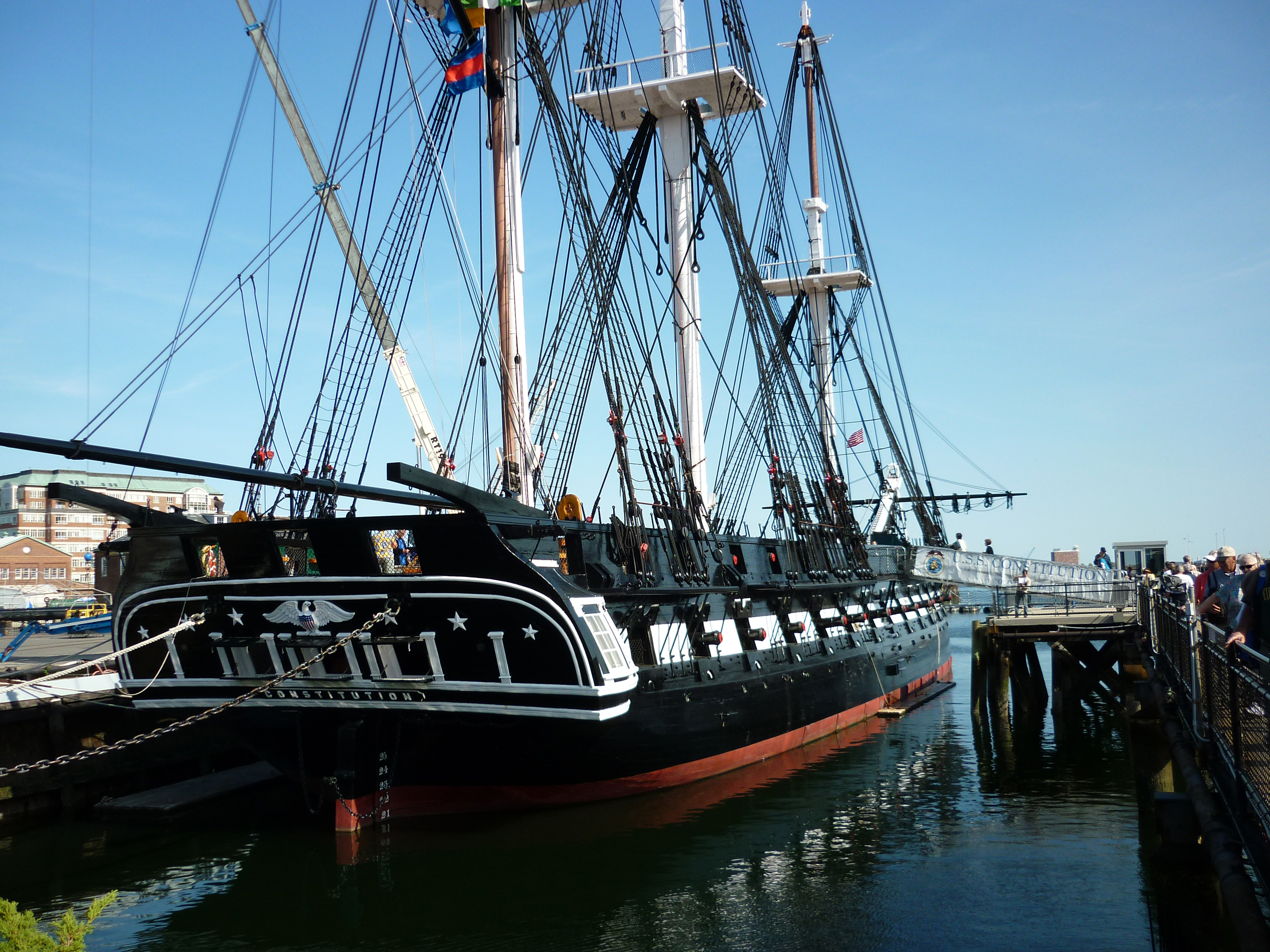 free stock photo 6641 uss constitution frigate freeimageslive