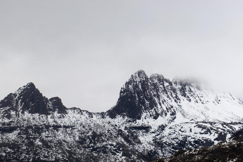 telephoto image of cradle mountain, Cradle Mountain-Lake St Clair National Park, tasmania