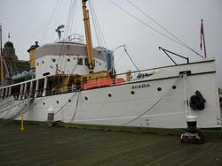 6713   CSS Acadia in dock