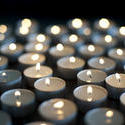 6811   Background of burning candles