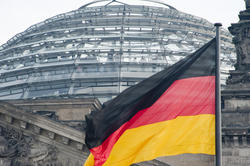 7080   German flag and the Reichstag dome
