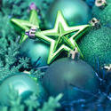 6819   Festive green Xmas decorations