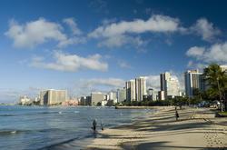 5504   Waikiki beach in the sun