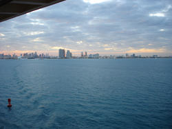 6495   Leaving Miami on a cruise