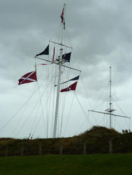 6730   Nautical flags on a flagpole