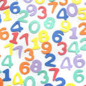 7009   Colourful numbers background