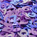 6954   Purple numbers and letters