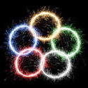 5733   olympic fireworks ring