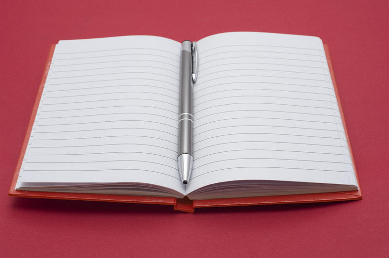 Free Stock Photo 5298 Open blank lined notebook ...