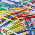 5407   Randomly scattered colourful paperclips