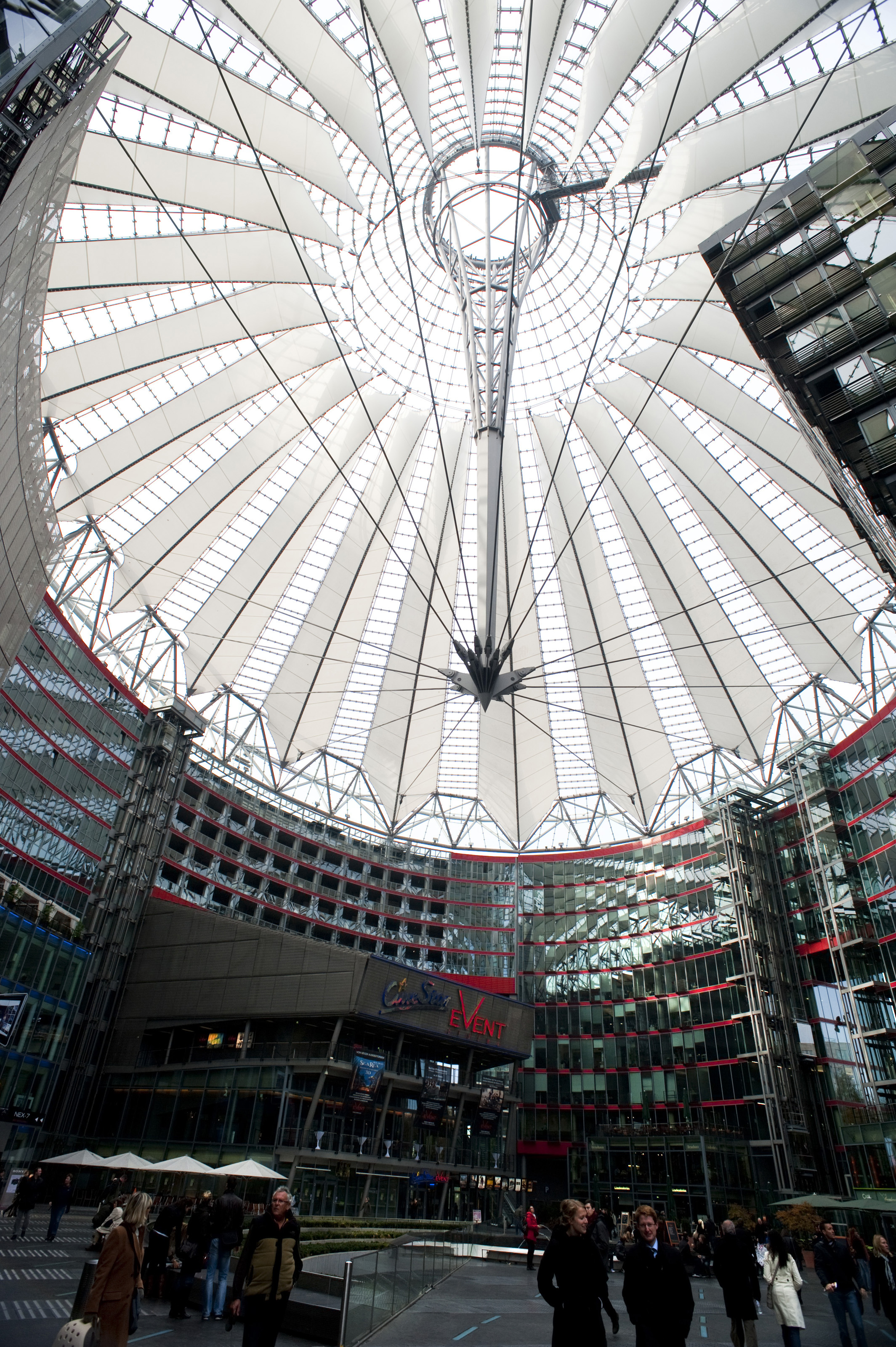 Free Stock Photo 7091 Conical Glass Roof Of The Sony