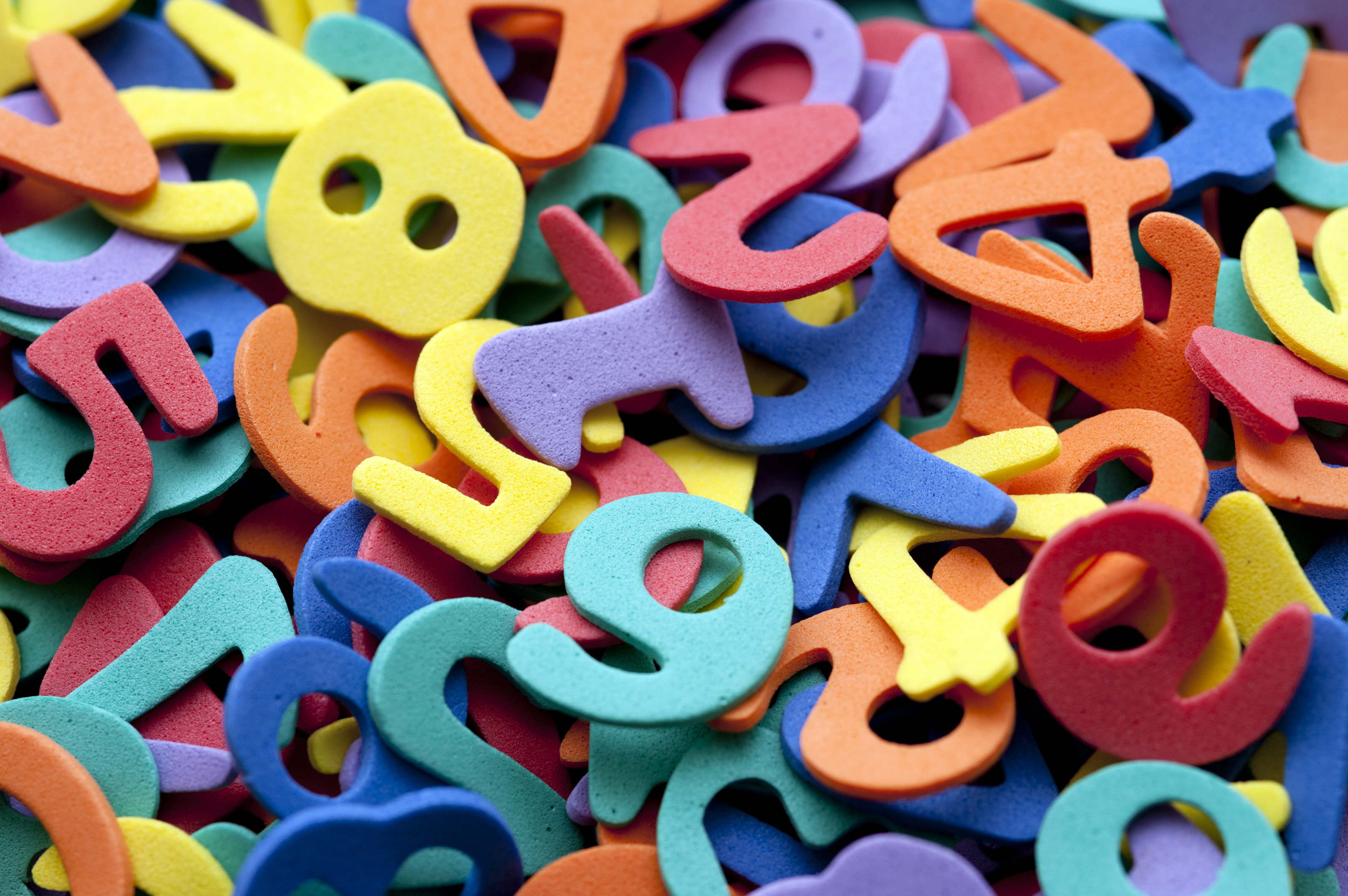 Free stock photo 7018 colourful preschool numbers - Number wallpaper ...
