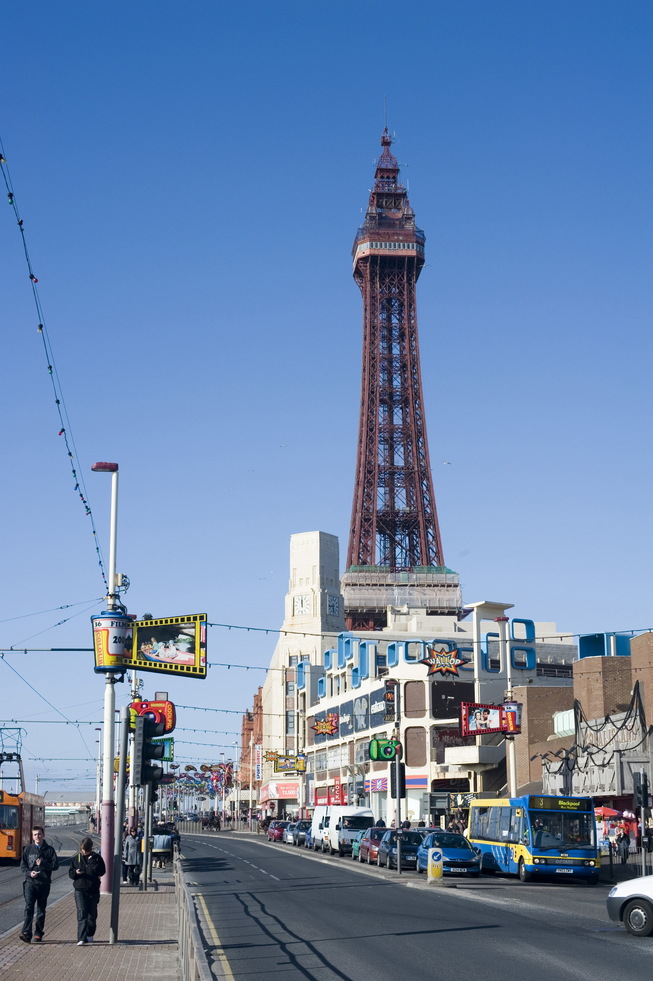 Free Stock Photo 7682 Blackpool Tower And Promenade Freeimageslive