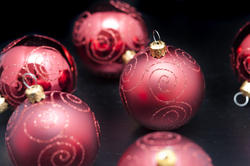 6827   Red Christmas ornaments