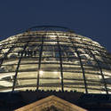 7093   Dome of the Reichstag building at night