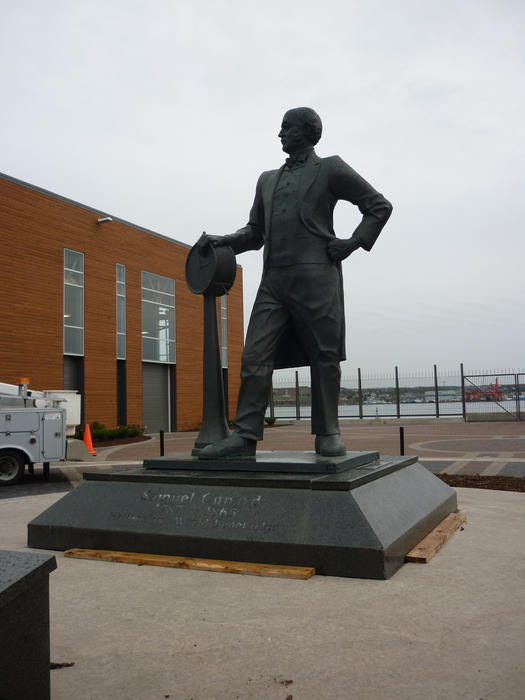 Sir Samuel Cunard statue, Halifax , Canada, founder of the Cunard Shipping Line