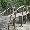 6323   Rustic wooden pedestrian bridge