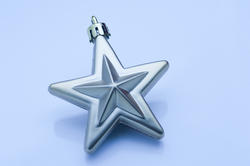 6831   Blue Christmas star decoration