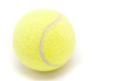 5728   isolated tennis ball