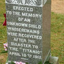 6750   Memorial headstone to a Titanic victim