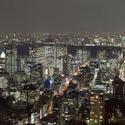 6131   nightime city buildings