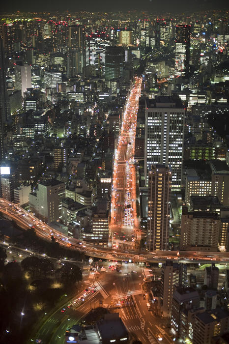 bright lights of tokyo, Japan at night