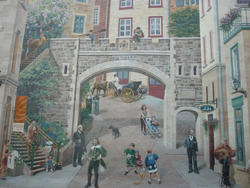 6751   Trompe d'loueil mural