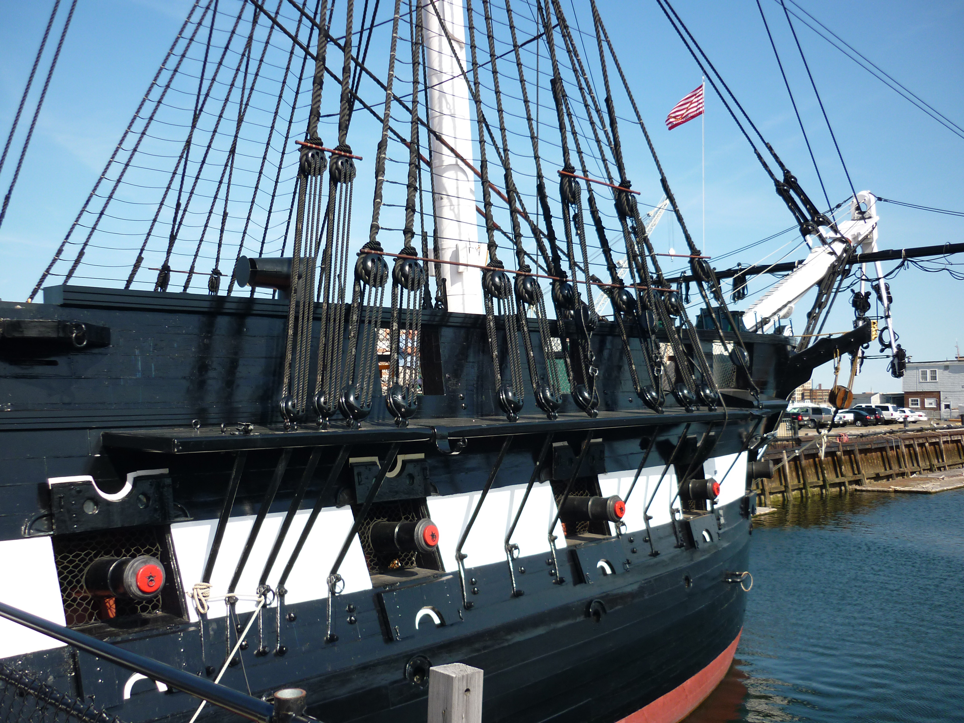 Free Stock Photo 6705 USS Constitution in harbour ...