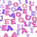 7034   Vowels in purple and pink
