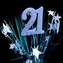 10587   21st Celebration Concept with Bursting Stars