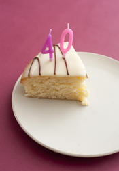 11425   Slice of 40th birthday cake