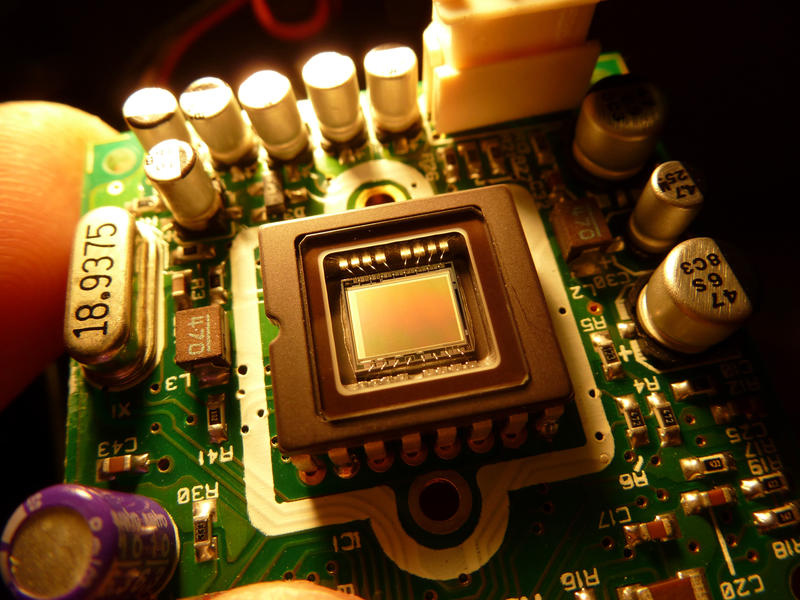 A video CCD Sensor Chip from inside a video camera