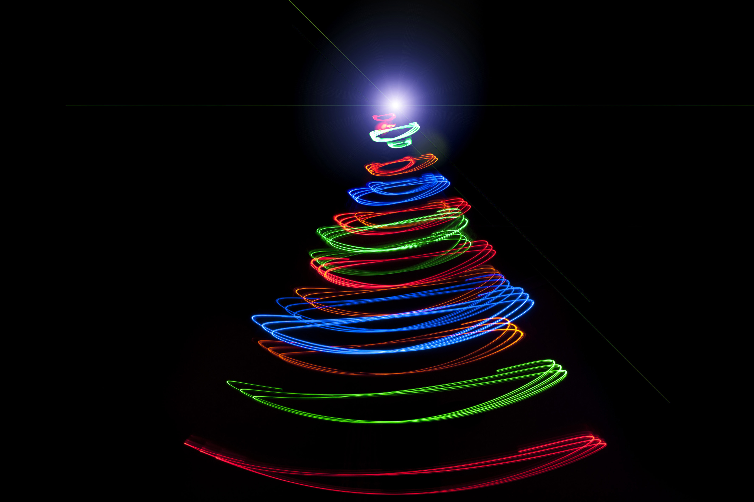 Free Stock Photo 8637 Abstract Festive Christmas Tree With