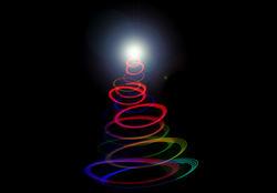 8638   Abstract twirled Christmas tree light