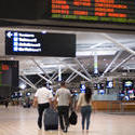 10673   People with Luggage at the Airport Terminal