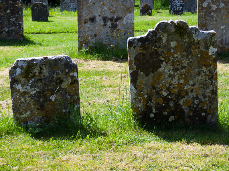<p>Ancient Gravestones</p>Ancient gravestones stand in a churchyard which has been in use since the middle ages and still serves the community today.