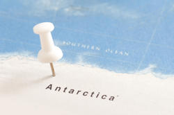 10674   White Thumb Tack in Map of Antarctica