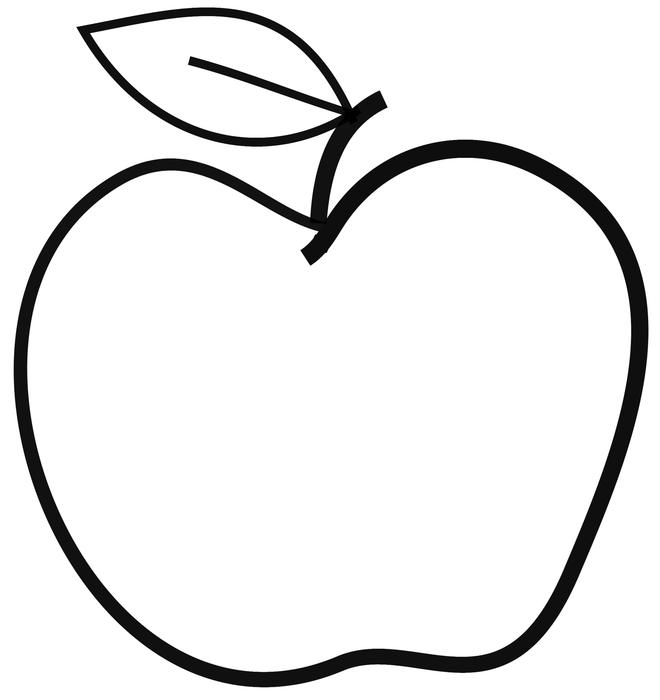 Line Drawing Apple : Free stock photo apple line freeimageslive